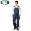 KEY キー Bib Overalls ビブオーバーオール ハイバック NON WASH【KEY273-DE】