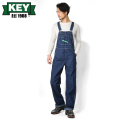 KEY キー Bib Overalls ビブオーバーオール ハイバック ONE WASH【KEY273-WA】