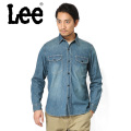 Lee リー LT0501-146 デニム ワークシャツ 中色ブルー