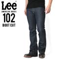 ☆15%OFFセール☆Lee リー AMERICAN RIDERS 102 ブーツカット デニムパンツ ダークインディゴ【LM5102-500】