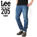 ☆15%OFFセール☆Lee リー AMERICAN RIDERS 205 タイトストレート デニムパンツ 中色ブルー 【LM5205-446】