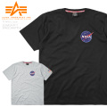 ☆今だけ22%OFF割引中☆ALPHA アルファ TC1418 NASA スペースシャトル 半袖Tシャツ ミリタリーファッション