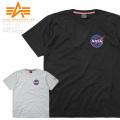 ALPHA アルファ TC1418 NASA スペースシャトル 半袖Tシャツ ミリタリーファッション