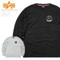 ALPHA アルファ TC1419 NASA アポロ11 長袖Tシャツ ミリタリーファッション