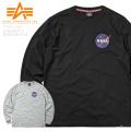 ALPHA アルファ TC1419 NASA スペースシャトル 長袖Tシャツ ミリタリーファッション