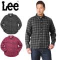 Lee リー LT0591 L/S ボタンダウン シャツ オンブレチェック