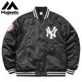 MAJESTIC マジェスティック ニューヨーク ヤンキース サテン スタジアムジャケット MM23-NY-8F39A