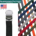 【即日出荷対応】SUSPENDER FACTORY サスペンダーファクトリー MF110 キャンバスベルト シルバーバックル MADE IN USA【キャンペーン対象外】