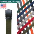 ☆20%OFF割引中☆【即日出荷対応】SUSPENDER FACTORY サスペンダーファクトリー MF110 キャンバスベルト ブラックバックル MADE IN USA