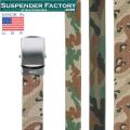 【即日出荷対応】SUSPENDER FACTORY サスペンダーファクトリー MF110 キャンバスベルト CAMO シルバーバックル MADE IN USA【キャンペーン対象外】