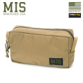 MIS エムアイエス MIS-1012 CORDURA NYLON スリムアクセサリーバッグ / ポーチ MADE IN USA - COYOTE BROWN【Sx】