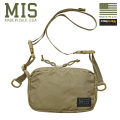 MIS エムアイエス MIS-1027P PACK CLOTH NYLON ショルダーバッグ MADE IN USA - COYOTE TAN【Sx】
