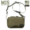 MIS エムアイエス MIS-1027P PACK CLOTH NYLON ショルダーバッグ MADE IN USA - OLIVE【Sx】【T】