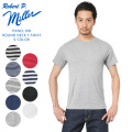 【ネコポス便対応】【即日出荷対応】MILLER ミラー 109C パネルリブ ラウンド ネック Tシャツ【Sx】