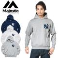 ☆まとめ割引対象☆MAJESTIC マジェスティック ニューヨーク・ヤンキース ロゴパーカー MM06-NYK-0132