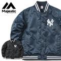 MAJESTIC マジェスティック ニューヨークヤンキース バックロゴ サテン スタジアムジャケット MM23-NY-9F04