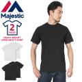 ☆ただいま20%割引中☆MAJESTIC マジェスティック CM07-MCS001 HEAVY WEIGHT C/N Tシャツ 2枚パック アメカジ