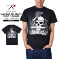 ☆15%OFFセール☆ROTHCO ロスコ 66530 VINTAGE MILITARY SKULL プリントTシャツ