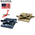 WAIPER 米軍採用生地使用 蝶ネクタイ + ポケットチーフ