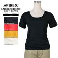 【ネコポス便対応】AVIREX アビレックス デイリーウェア 6223064 レディース WIDE RIB Tシャツ4色