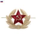 ☆まとめ割引対象☆【ネコポス便対応】新品 ロシア軍実物製造工場製 帽章 金属ピンバッジ ミリタリー