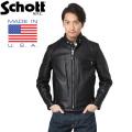 Schott ショット 641 シングルレザーライダース 6061 BLACK【キャンペーン対象外】