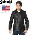 Schott ショット 602US レザーポリスマンジャケット 7167 BLACK【Sx】
