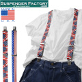 ☆21%OFF割引中☆【即日出荷対応】SUSPENDER FACTORY サスペンダーファクトリー US FLAGS 総柄サスペンダー MADE IN USA