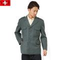 実物 スイス軍グレーウールジャケット●