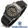 【キャンペーン対象外】 Smith & Wesson スミス&ウェッソン LAWMAN WATCH 腕時計 BLACK SWW-11B-GLOW