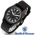 【キャンペーン対象外】 Smith & Wesson スミス&ウェッソン MILITARY WATCH 腕時計 BLACK SWW-1464-BK