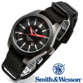 【キャンペーン対象外】 Smith & Wesson スミス&ウェッソン SWISS TRITIUM MILITARY H3 WATCH 腕時計 BLACK SWW-1864T