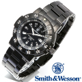 【キャンペーン対象外】 Smith & Wesson スミス&ウェッソン SWISS TRITIUM 357 SERIES COMMANDER WATCH 腕時計 BLACK SWW-357-BSS