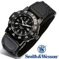 【キャンペーン対象外】 Smith & Wesson スミス&ウェッソン SWISS TRITIUM 357 SERIES TACTICAL WATCH 腕時計 NYLON BLACK SWW-357-N