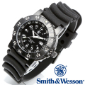 【キャンペーン対象外】 Smith & Wesson スミス&ウェッソン SWISS TRITIUM 357 SERIES DIVER WATCH 腕時計 RUBBER BLACK SWW-357-R