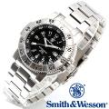 【キャンペーン対象外】 Smith & Wesson スミス&ウェッソン SWISS TRITIUM 357 SERIES AVIATOR WATCH 腕時計 SILVER SWW-357-SS