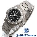 【キャンペーン対象外】 Smith & Wesson スミス&ウェッソン SWISS TRITIUM 357 SERIES EXECUTIVE WATCH 腕時計 TITANIUM SILVER/BLACK SWW-357-T-BLK
