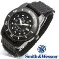 【キャンペーン対象外】 Smith & Wesson スミス&ウェッソン COMMANDO WATCH 腕時計 BLACK SWW-5982