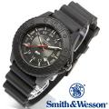 【キャンペーン対象外】 Smith & Wesson スミス&ウェッソン SWISS TRITIUM M&P WATCH 腕時計 BLACK/BLACK SWW-MP18-BLK