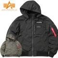 ★ただいま20%OFF★ALPHA アルファ TA1453 BONDING フーデッドリブジャケット ミリタリーファッション