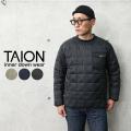 【即日出荷対応】TAION タイオン TAION-100PB プルオーバー クルーネック ダウン【Sx】