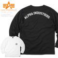 ☆ただいま15%OFF☆ALPHA アルファ TC1295 L/S バックプリント クルーネック ポケットTシャツ