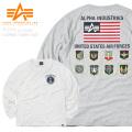 ☆クリアランスセール☆【即日出荷対応】ALPHA アルファ TC1319 L/S プリント Tシャツ USAF