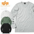 ALPHA アルファ TC1325 L/S テレコリブ 長袖 Vネック Tシャツ