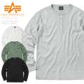 ALPHA アルファ TC1326 L/S テレコリブ 長袖 ヘンリーネック Tシャツ