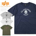 ☆ただいま15%割引中☆【ネコポス便対応】ALPHA アルファ TC1345 S/S プリント クルーネック 半袖 Tシャツ A-WING