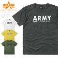 ☆ただいま15%割引中☆【ネコポス便対応】ALPHA アルファ TC1345 S/S プリント 半袖 Tシャツ ARMY