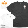 【ネコポス便対応】ALPHA アルファ TC1358 クルーネック 半袖 ポケットTシャツ PEANUTS ASTRONAUT スヌーピー
