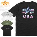 ☆ただいま15%割引中☆【即日出荷対応】【ネコポス便対応】ALPHA アルファ TC1367 S/S プリント クルーネック 半袖 Tシャツ US A-MARK