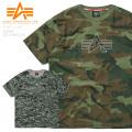 ALPHA アルファ TC1401 S/S カモ クルーネック Tシャツ